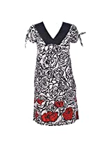 Pure Nautanki Women|Girls Other A-Line Dress (Pb-622 _Black White _Medium)