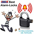 Gadget Hero's Details about Anti Theft Burglar Pad Lock Alarm Security Siren Home Office Bike Bicycle Shop