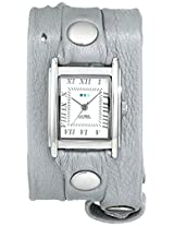 La Mer Collections Women's LMMTW1003 Lite Gray Shimmer Silver Triple Wrap Watch