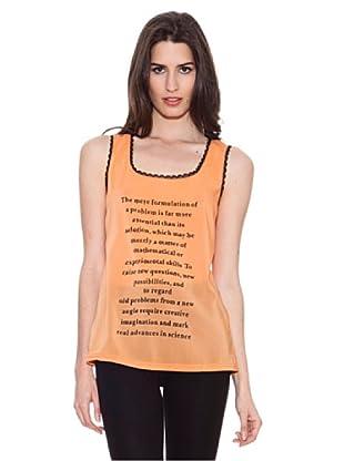Santa Bárbara Camiseta Frases (Naranja)