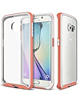 Galaxy S6 Edge case, Caseology [Dual Bumper Clear back] [Pink] DIY Customization Fusion Hybrid Cover [Shock Absorbent] Samsung Galaxy S6 Edge case