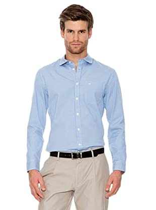 Dockers Camisa Cuello Redondo Mini Cuadro (Azul)