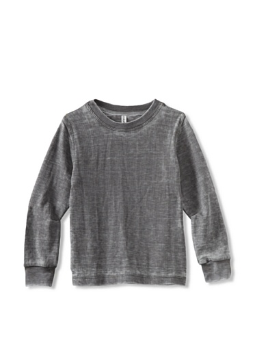 Colorfast Apparel Boy's Burnout Thermal (Charcoal)