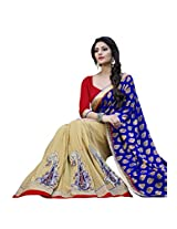 Manvaa blue and beige saree -SGN21713