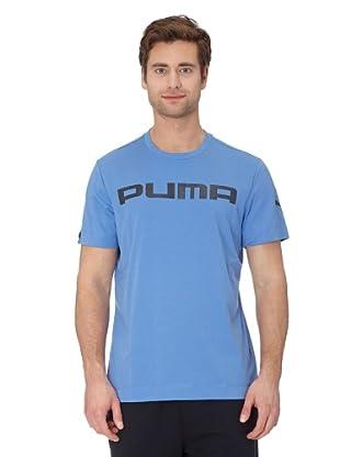 Puma T-Shirt Graphic PUMA (blue yonder-black)