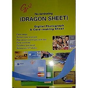 DRAGON SHEET ORIGINAL WORLD WIDE SOLD A4 ID CARD / PVC SIGN BOARD / OFFICE DOOR PVC HD SIGN 50 + 50 SHEETS