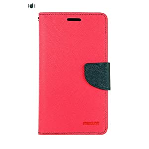 Samsung Galaxy Grand 2 7106 Textured Leather Designer Flip Cover - Pink/Blue