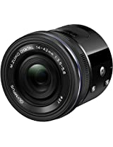 Olympus Air A01 Mirrorless Micro Four Thirds Lens-Style Digital Camera with 14-42mm EZ Lens (Black)