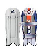 adidas Elite 16 Wicket Keeper Pads, Men's Medium (White)