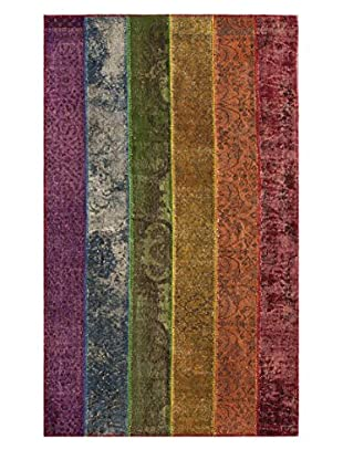 nuLOOM One-of-a-Kind Pride Hand-Knotted Turkish Patchwork Rug, Multi, 5' x 8' 1