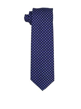 Desanto Men's Dotted Olimpia Tie, Navy/Light Blue