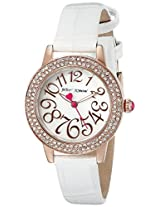Betsey Johnson Women's BJ00251-05 Analog Display Quartz White Watch