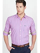 Stripes Pink Casual Shirt