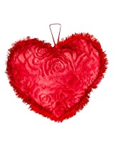 Valentines Appealing Red Heart with a fur boundary (15 inch)