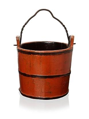 Royola Pacific Wooden Water Bucket (Flame Orange)