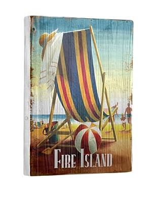 Artehouse Beach Chair-Fire Island Reclaimed Wood Sign