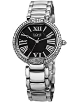 Burgi Women's BUR101SSB Crystal Black Dial Silver-tone Stainless Steel Bracelet Watch