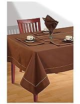 SWAYAM Cotton 10 Piece Kitchen Linen Set - Cinnamon Brown