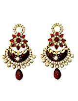 Dhwani Creation Jhumki Earring for Women and Girls (Red)