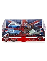 Disney / Pixar CARS 2 Movie Exclusive 148 Die Cast Car 4Pack Save the Queen Finn McMissile, Queen, M