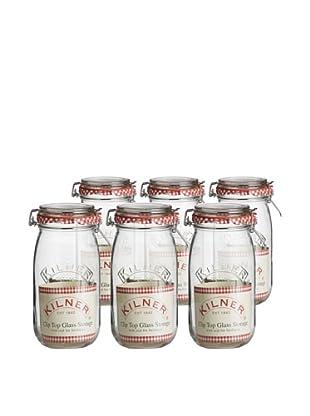 Kilner Set of 6 Clip Top Round Jars