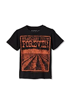 Lords of Liverpool Kid's Strawberry Fields Forever T-Shirt (Black)