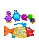 Munchkin Twisty Fish Bath Toy With Lazy Buoys Bathtub Toys