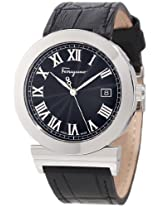 Salvatore Ferragamo Men's F71LBQ9909 S009 Grande Maison Stainless Steel Black Dial Leather Watch