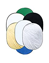 "Andoer 35.4 * 47.2""/90 *120cm 7 in 1 Portable Photography Studio Multi Photo Ellipse Collapsible Light Reflector"