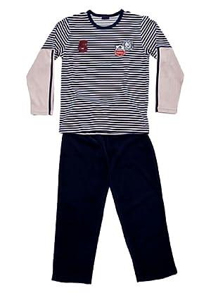 Blue Dreams Pijama Niño Tundosado (marino)