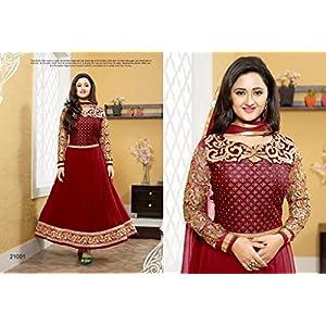 Rashmi desai Exclusive Red Designer Salwar Kameez