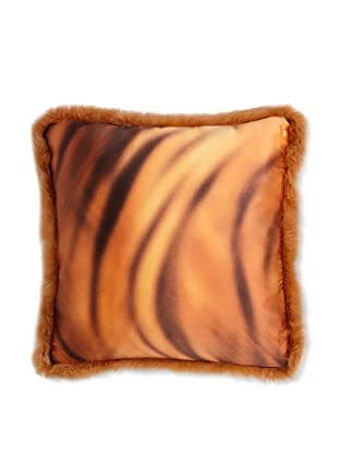 Roberto Cavalli Casa Tiger-Print Pillow (Orange)