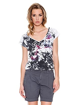 Fornarina Camiseta Sushi (Blanco / Negro)