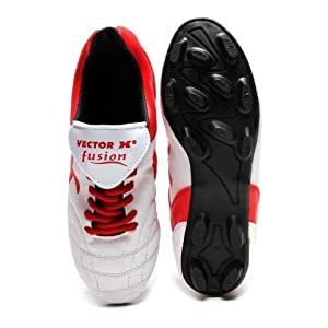 Vector X Fusion Football Shoes, Red 10
