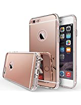 iPhone 6S Case, Ringke [FUSION MIRROR] Bright Reflection Radiant Luxury Mirror Case [Drop Protection / Shock Absorption Technology] Attached Dust Cap for Apple iPhone 6S / 6 - ROSE GOLD