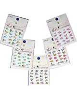 Festive & Fun Water Nail Tattoo Transfer Decals /LD2/- Easter Baskets, Egg, Bunny, etc. - Pack of 5