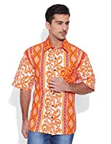 Very Me Beach Lover Men's Cotton Printed Shirt (32)
