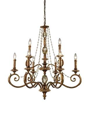 ELK Lighting Montavilla 9-Light Chandelier, Spanish Bronze