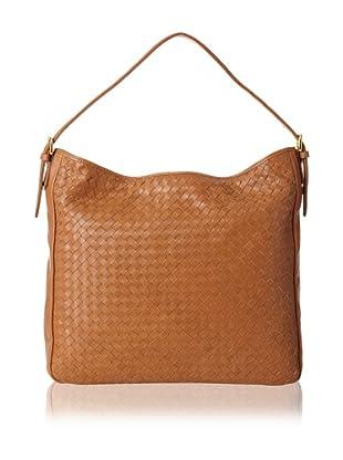 Zenith Women's Woven Large Shoulder Bag, Cognac