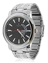 Calvino Men's Black Dial Watch CGAC-141117_Silver Blk
