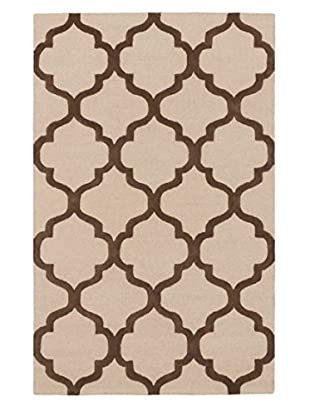 Handmade Trellis Rug, Brown/Ivory, 5' x 8'