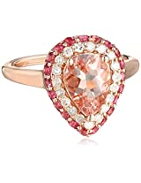 10k Rose Gold Morganite, Pink Tourmaline, and Diamond Ring (1/4 cttw, H-I Color, I2-I3 Clarity), Size 7