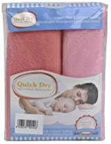 Quick Dry Baby Bed Protector Twin Pack (Pink and Salmon Rose)