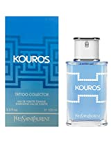 Kouros By Yves Saint Laurent Tatoo Collector Energizing Edt Spray 3.3 Oz With Two Kouros Tatoo)