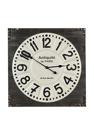 Cooper Classics Talbert Wall Clock, Dark Wood