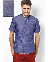 Blue Half Sleeve Casual Shirt