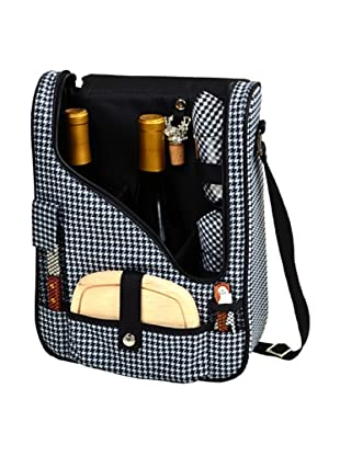 Picnic at Ascot Two-Bottle Wine & Cheese Cooler (Houndstooth)