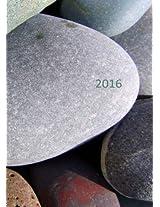 dicker TageBuch Kalender 2016 - STEINE: Endlich genug Platz für dein Leben! 1 Tag pro DIN A4 Seite