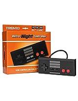 Trenro NES USB Controller, Retro Black