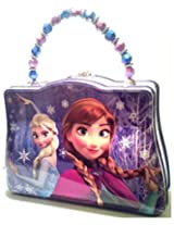 Disney Frozen Classic Purse With Beaded Handle Tin Tote